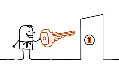 Stock_man_key_in_door_380