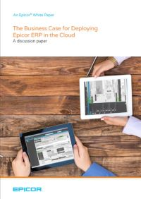 Deploying Epicor ERP in the cloud