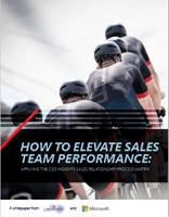 How to elevate sales team performance