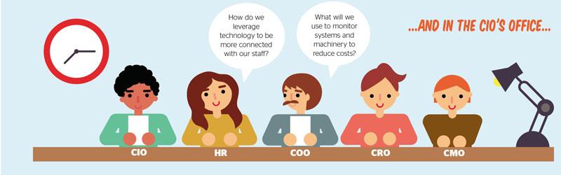 CIO office conversation