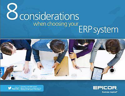 Eight considerations when choosing an ERP system