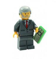 Lego Businessman with money