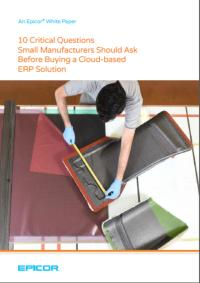 Critical questions small manufacturers should ask