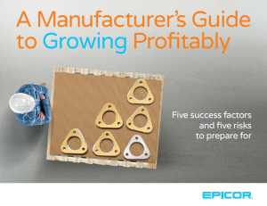 A manufacturer's guide to growing profitibility