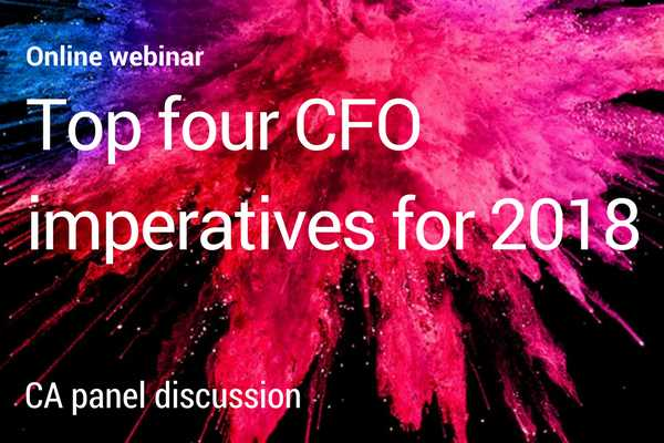 What are the top four CFO imperatives for 2018?