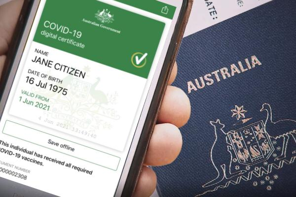 Covid vaccine certificates hit Australia